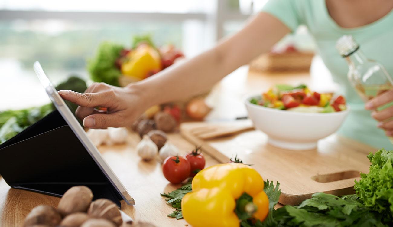 App per cucinare vegan e usare prodotti bio